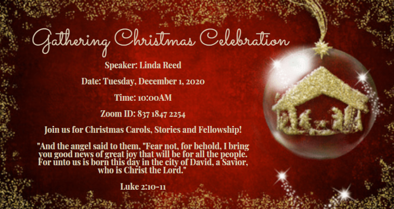 Gathering Christmas Celebration 2020 Invitation
